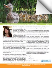News from Le Nichoir