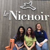 Staff at Le Nichoir